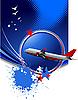 Vector clipart: passenger plane poster