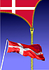 Vector clipart: Zipper opens Danish flag