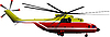 Red-yellow helicopter