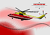 Vector clipart: Red-yellow helicopter