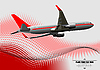 Vector clipart: airplane