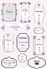 Vector clipart: ornate frames and ornaments with sample text