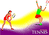 Векторный клипарт: Постер с теннисисткой