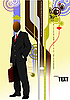 Vector clipart: poster with business man
