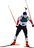 Biathlon runner | Stock Vector Graphics