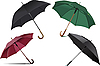 Vector clipart: Four types of opened rain umbrella