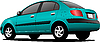 Vector clipart: Green car sedan