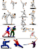 Vector clipart: Oriental combat sports