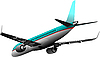 Vector clipart: Passenger airplane