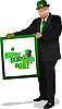 Vektor Cliparts: Illustration des St. Patrick 's Day. Leprechaun.