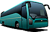 Vector clipart: Green tourist bus