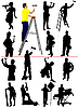 Vector clipart: Workers silhouettes
