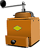Vector clipart: Classic coffee grinder in wooden case