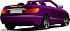 Vector clipart: Purple cabriolet