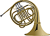 Vector clipart: Music instrument french horn