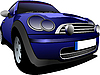 Vector clipart: Blue car