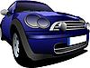 Vector clipart: Blue car