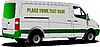 Commercial silver cargo minibus | Stock Vector Graphics