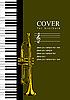 Vektor Cliparts: Abdeckung für Broschüre mit Piano und Trompete