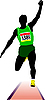 Vector clipart: Athletics. Long jump