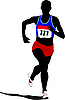 Vector clipart: running man