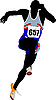 Vector clipart: Runner. Sport. Athletics