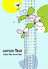 Vector clipart: Floral summer card
