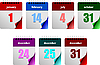 Vector clipart: Seven calendar days