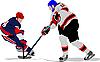 Хоккеисты | Векторный клипарт