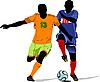Векторный клипарт: Футболисты