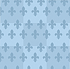 Vector clipart: blue seamless background with fleur-de-lis
