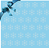 Snowflakes blue background with blue bow
