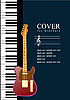 Vektor Cliparts: Piano mit Gitarre