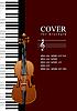 Vektor Cliparts: Abdeckung für Broschüre mit Piano mit Violine