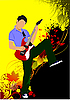 Vector clipart: Guitar player