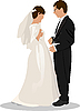 Vector clipart: Bride and groom