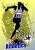 Векторный клипарт: Плакат по легкой атлетике