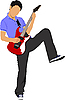 Vector clipart: Guitarist