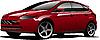 Rojo-marrón hatchback coche | Ilustración vectorial