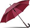 Векторный клипарт: Открытый розовый зонтик