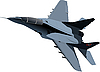 Vector clipart: combat jet fighter