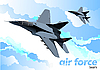 Vector clipart: Air force team