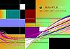 Vektor Cliparts: Farbige geometrische abstrakte Hintergrund
