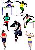 Set von Arten der Leichtathletik