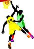 Vector clipart: Basketball players