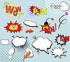Vektor Cliparts: Set von Comic-Elementen