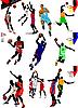 Fifteen Basketball players