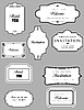 Vector clipart: Set of ornate frames