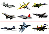 Vector clipart: Jet fighters