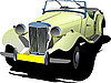 Vector clipart: old vintage yellow cabriolet
